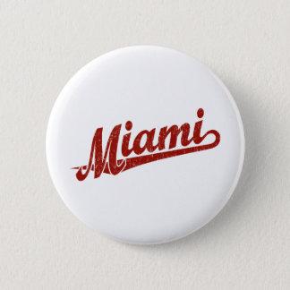 赤い動揺してのマイアミの原稿のロゴ 缶バッジ