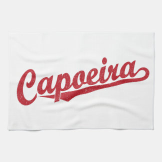 赤い動揺してのCapoeira キッチンタオル