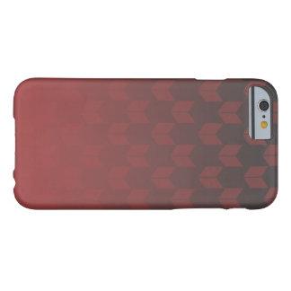 赤い勾配のiPhone 6/6sの箱 Barely There iPhone 6 ケース