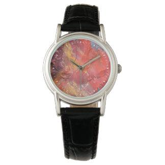 赤い化石木の詳細、アリゾナ 腕時計