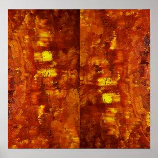 赤い化石 ポスター