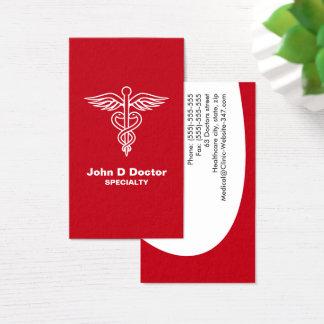 赤い医者かヘルスケアの名刺 名刺