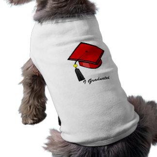 赤い卒業の帽子 ペット服
