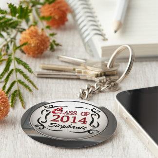 赤い卒業Keychainの2014年の一流のクラスを加えて下さい キーホルダー