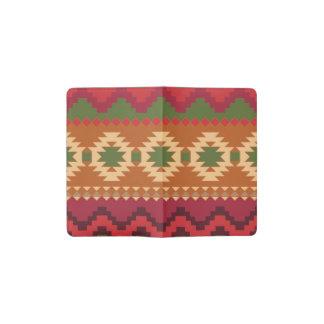 赤い南西パターン-西部の抽象美術 ポケットMoleskineノートブック