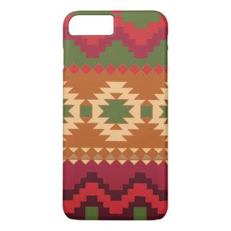 赤い南西パターン-西部の抽象美術 iPhone 8 PLUS/7 PLUSケース