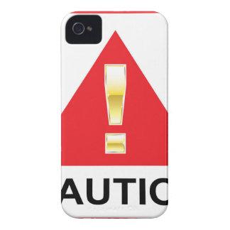 赤い印の注意の金ゴールドの注意の印 Case-Mate iPhone 4 ケース