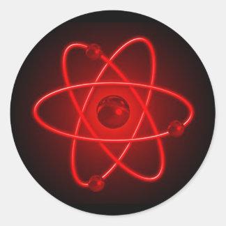 赤い原子 ラウンドシール