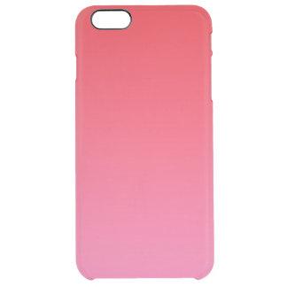 赤い及びピンクのグラデーション クリア iPhone 6 PLUSケース