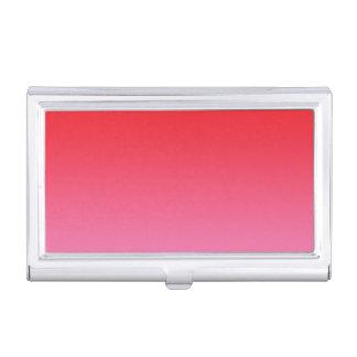 赤い及びピンクのグラデーション 名刺入れ