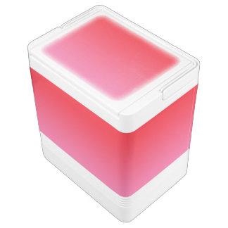 赤い及びピンクのグラデーション IGLOOクーラーボックス