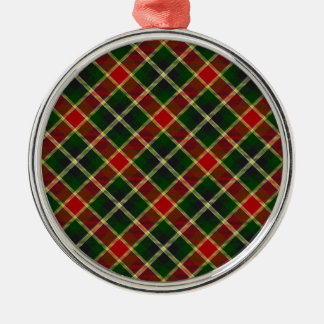 赤い及び緑の格子縞の優れたクリスマスツリーのオーナメント メタルオーナメント