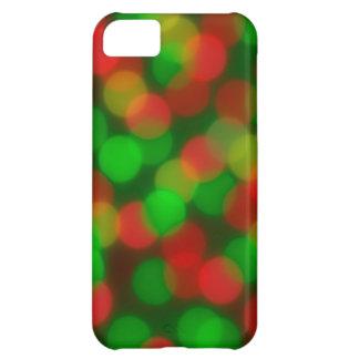 赤い及び緑の《写真》ぼけ味のiPhone 5cカバー iPhone5Cケース