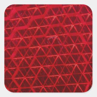 赤い反射 スクエアシール