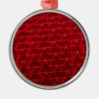 赤い反射 メタルオーナメント
