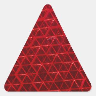 赤い反射 三角形シール