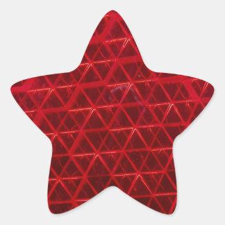 赤い反射 星シール