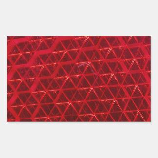 赤い反射 長方形シール