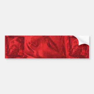 赤い反射Iのバンパーステッカー バンパーステッカー