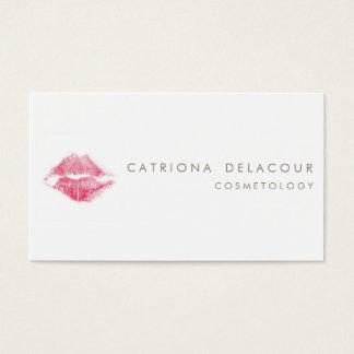 赤い口紅のキスの印のCosmetologyの名刺 名刺