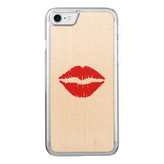 赤い口紅のキス CARVED iPhone 8/7 ケース
