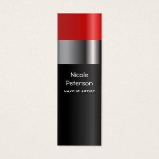 赤い口紅の化粧 スキニー名刺