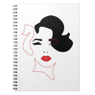 赤い唇のノート ノートブック