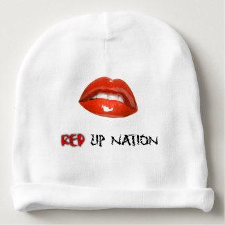 赤い唇の国家のベビーの綿の帽子 ベビービーニー