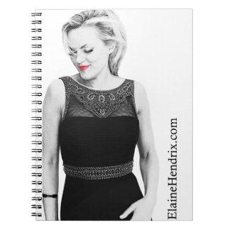 赤い唇の螺線形ノート ノートブック