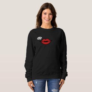 赤い唇の「キスMe スウェットシャツ