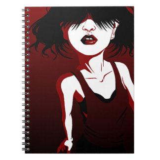 赤い唇 ノートブック