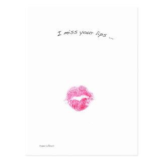 赤い唇 ポストカード