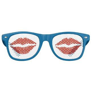 赤い唇 レトロサングラス