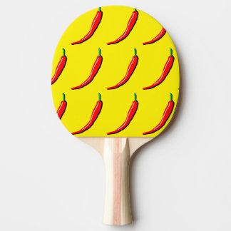 赤い唐辛子の卓球ラケット ピンポンラケット