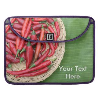 赤い唐辛子 MacBook PROスリーブ