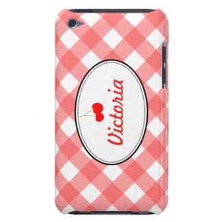 赤い国のギンガムパターン甘いさくらんぼのカスタム Case-Mate iPod TOUCH ケース