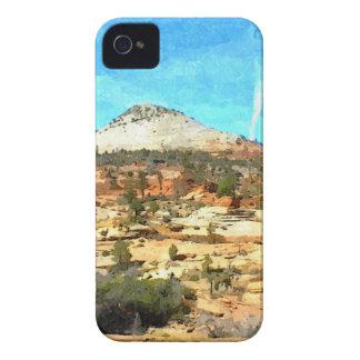 赤い土が付いている南ユタヴィスタ Case-Mate iPhone 4 ケース