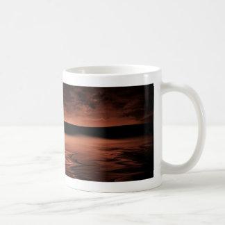 赤い地平線の基本的な白いマグ コーヒーマグカップ