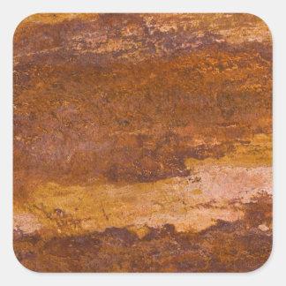 赤い堆積岩の自然の砂岩粒状の石 スクエアシール