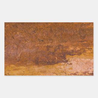 赤い堆積岩の自然の砂岩粒状の石 長方形シール