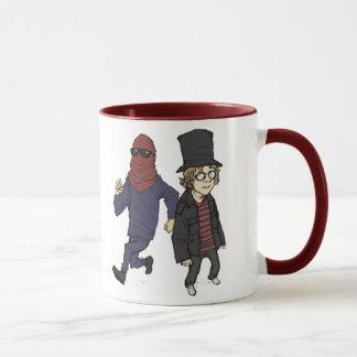 赤い報復者およびDawgの赤いマグ マグカップ