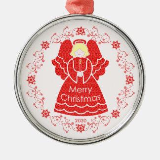 赤い天使のクリスマス メタルオーナメント