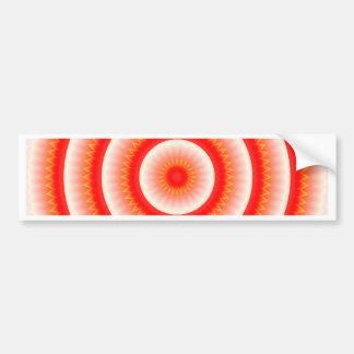 赤い太陽の曼荼羅 バンパーステッカー