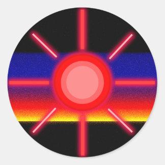 赤い太陽 ラウンドシール