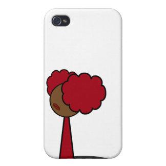 赤い女の子の歩く iPhone 4/4S CASE