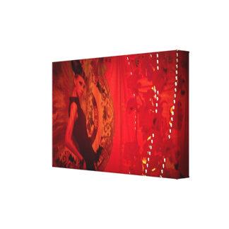 赤い女性 キャンバスプリント