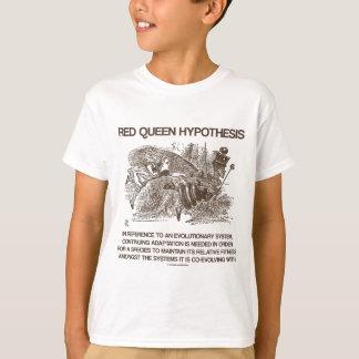 赤い女王の仮説(アリスの赤い女王の不思議の国) Tシャツ