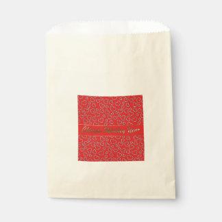 赤い好意のバッグの中国のな猿年の金ハート フェイバーバッグ