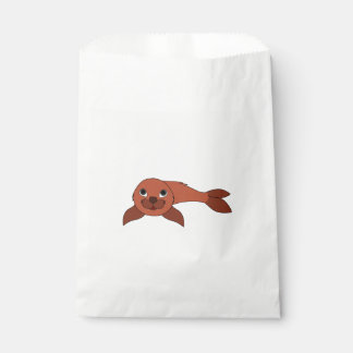 赤い子どものアシカ フェイバーバッグ