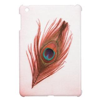 赤い孔雀の羽のiPad Miniケース iPad Miniカバー